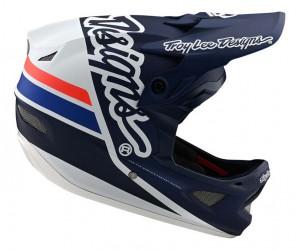 Вело шлем TLD D3 Fiberlite [Silhouette navy/White]
