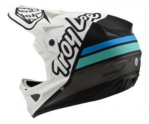 Вело шлем TLD D3 Fiberlite [Silhouette White/Navy]