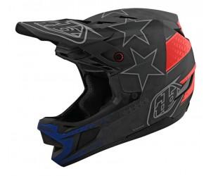 Вело шлем фуллфейс TLD D4 Carbon [Freedom 2.0 Black/Red]