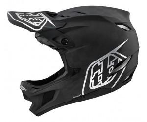 Вело шлем фуллфейс TLD D4 Carbon [Stealth Black/Silver]