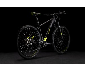 Велосипед Cube Aim EX black´n´flashyellow 2021 год