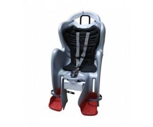 Сиденье детское Bellelli MR Fox Standart B-Fix серебристое с черной подкладкой фото, купить, киев, запорожье