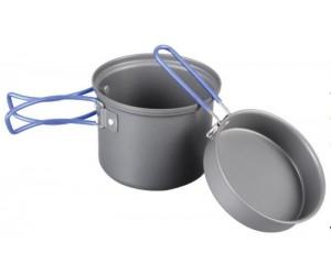 Кастрюля-кружка 0,9 л. анодированная с крышкой-сковородкой Tramp TRC-039 фото, купить, киев, запорожье
