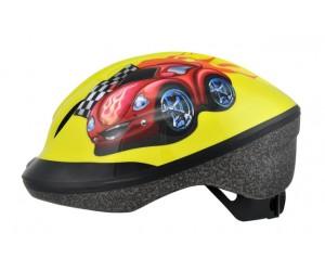 Шлем детский Longus FUNN 2.0 желтый Red Car фото, купить, киев, запорожье