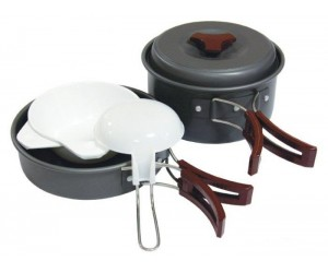 Набор посуды из анодированного алюминия на 1-2 персоны Tramp TRC-025 фото, купить, киев, запорожье