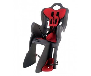 Сиденье детское Bellelli B1 Clamp на багажник до 22 кг серое с красной подкладкой фото, купить, киев, запорожье