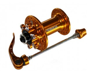 втулка TATU-BIKE передн.диск 32н 2 пром.подш.золотистая 141g облегченная