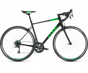 Велосипед Cube Attain (black´n´flashgreen) 2018 фото, купить, киев, запорожье