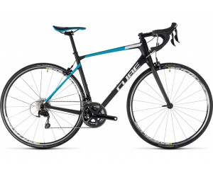 Велосипед Cube Attain GTC Pro (carbon´n´blue) 2018 фото, купить, киев, запорожье