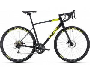 Велосипед Cube Attain Race Disc (black´n´flashyellow) 2018 фото, купить, киев, запорожье