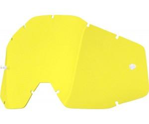 Линза к очкам 100% RACECRAFT/ACCURI/STRATA Replacement Lens Yellow Anti-Fog фото, купить, киев, запорожье