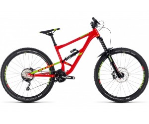 Велосипед CUBE Hanzz 190 Race 27.5 (red´n´lime) 2018 год фото, купить, киев, запорожье