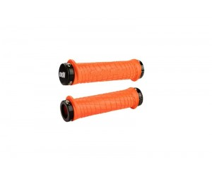 Грипсы ODI Troy Lee Designs Signature MTB Lock-On Bonus Pack Orange w/ Black Clamps (оранжевые с черными замками)