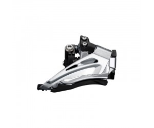 Переключатель передний Shimano FD-M6025-L, DEORE 2X10, LOW CLAMP, TOP-SWING, DOWN-PULL, хомут