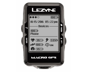 Велокомпьютер с GPS Lezyne MACRO GPS HRSC LOADED +Пульсометр +Каденс Black