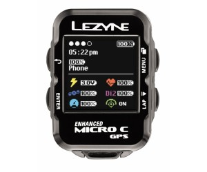 Велокомпьютер с GPS LEZYNE MICRO COLOR GPS HRSC LOADED +Пульсометр +Каденс
