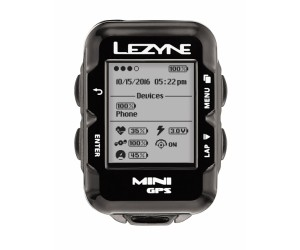 Велокомпьютер с GPS LEZYNE MINI HR LOADED 2018 +Пульсометр Black