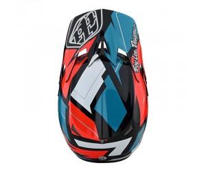 Вело шлем TLD D3 Fiberlite Helmet, Vertigo [BLUE / RED]