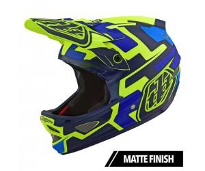 Вело шлем TLD D3 Fiberlite Speedcode [Yellow / Blue]