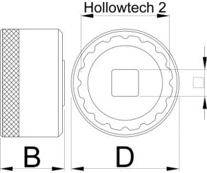 Головка для установки каретки Unior 16 Notch
