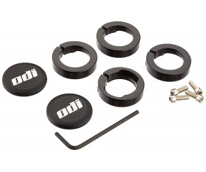 Замки для грипс ODI Set Lock Jaw Clamps w/Snap Caps - Black (черные)