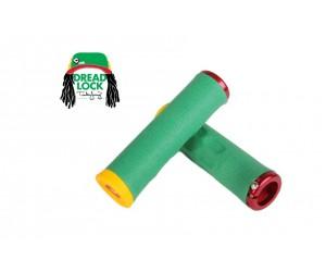 Грипсы ODI Tinker Juarez Dread Lock Grip Rasta w/Red clamp (раста с красными замками)