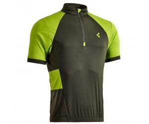 Велосипедная футболка Cube Tour Trikot Challenge (kurzarm neon green´n´grey) фото, купить, киев, запорожье