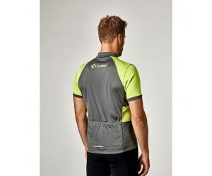 Велосипедная футболка Cube Tour Trikot Challenge (kurzarm neon green´n´grey)