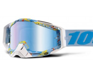 Маска 100% RACECRAFT Goggle - Mirror Silver, Blue, Gold, Red Lens