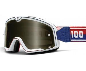 Мото очки 100% BARSTOW CLASSIC Goggle White - Smoke Lens фото, купить, киев, запорожье