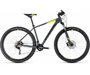 Велосипед Cube ATTENTION SL 27.5 (grey´n´flashyellow) 2018 года фото, купить, киев, запорожье