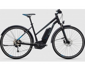 Электровелосипед Cube Cross Hybrid Pro Allroad 400 (black´n´blue) 2017 год фото, купить, киев, запорожье