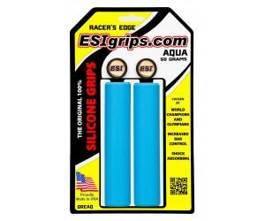 Грипсы ESI Racer's Edge Aqua (голубые) фото, купить, киев, запорожье