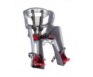 Сиденье пер. Bellelli TATOO Sportfix до 15кг, серебристое с красной подкладкой фото, купить, киев, запорожье