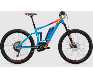 Электровелосипед Cube Stereo Hybrid 140 HPA Race 500 27.5 (blue´n´flashorange) 2017 год фото, купить, киев, запорожье