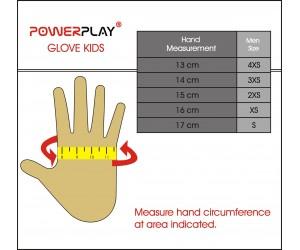 Детские велоперчатки PowerPlay 5451 (yellow)