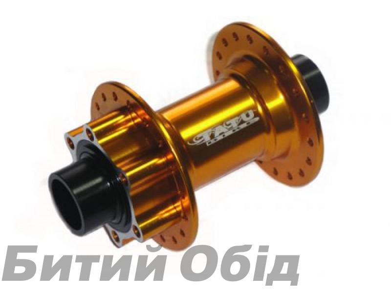 Втулка передняя TATU-BIKE диск 36H 20мм на 2 пром. подшипниках золотая