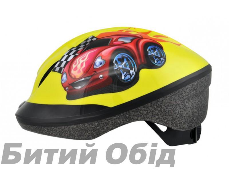 Шлем детский Longus FUNN 2.0 желтый Red Car