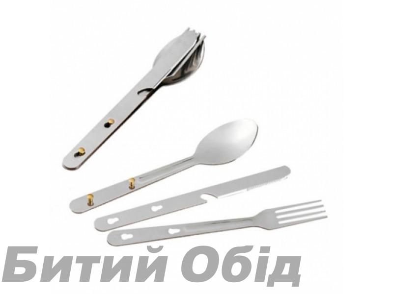 Набор ложка+вилка+нож Tramp TRC-003 фото, купить, киев, запорожье