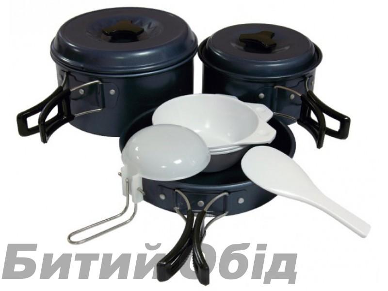 Набор посуды алюминиевый с антипригарным покрытием на 2-3 персоны Tramp TRC-023 фото, купить, киев, запорожье