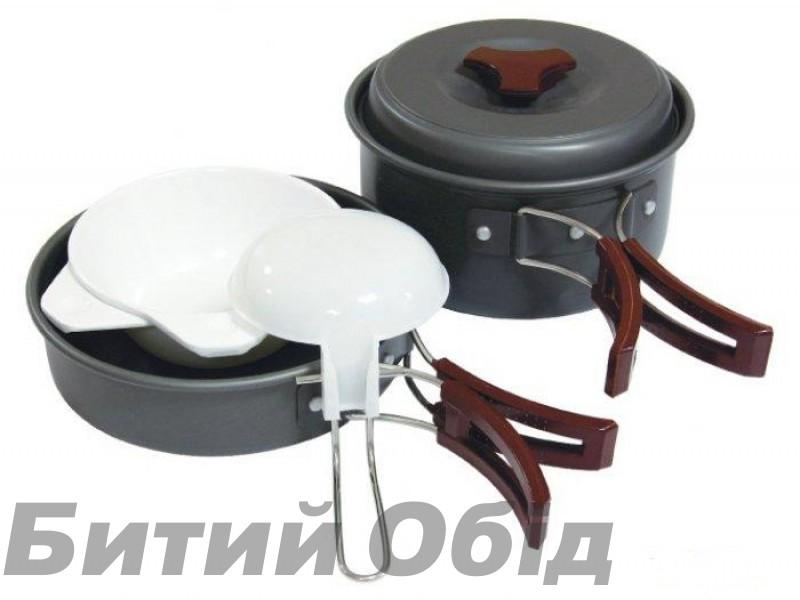Набор посуды из анодированного алюминия на 1-2 персоны Tramp TRC-025