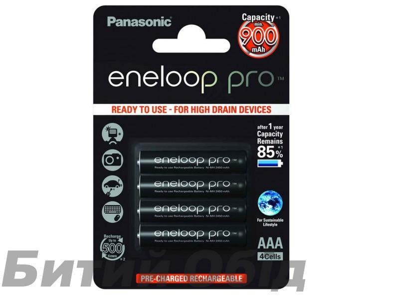 Аккумулятор Panasonic Eneloop Pro AAA 900 mAh 4BP NI-MH