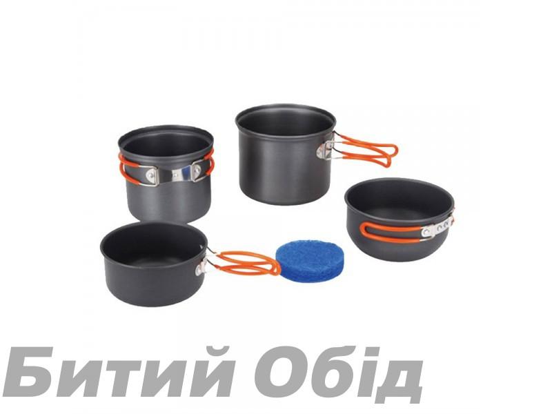 Набор посуды из анодированного алюминия на 1-2 персоны Tramp TRC-075 фото, купить, киев, запорожье