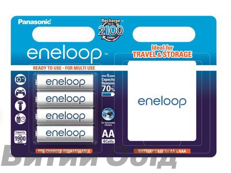 Аккумулятор Panasonic Eneloop AA 1900 4BP mAh NI-MH+case