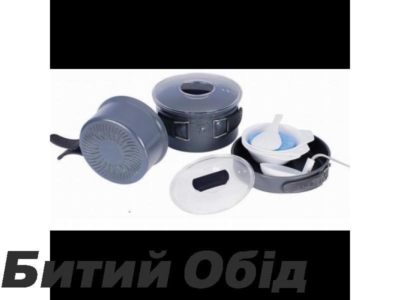 Набор посуды из анодированного алюминия на 2-3 персоны (профилированное дно) Tramp TRC-034 фото, купить, киев, запорожье