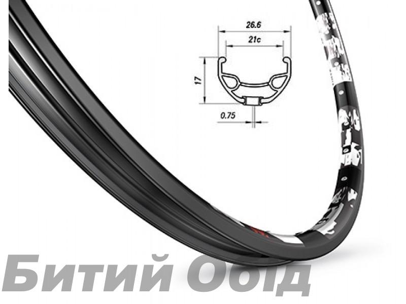 Обод Mach1 Karma Disc 27.5 32 отв., пистон, черный, AV