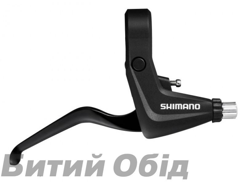 Тормозные ручки Shimano BL-T4010 V-brake, Trekking/под 3 пальца, черн фото, купить, киев, запорожье