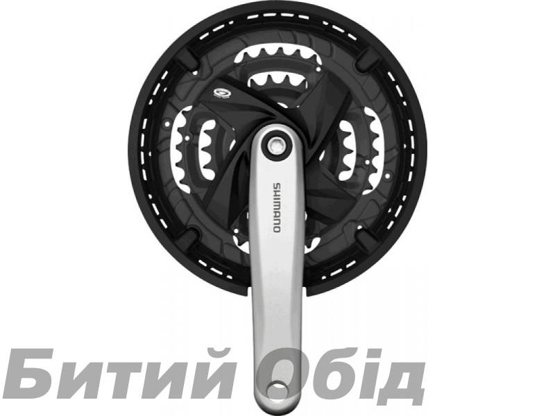 Шатуны Shimano FC-M371, 175мм, 48X36X26, защита, серебр/черн фото, купить, киев, запорожье