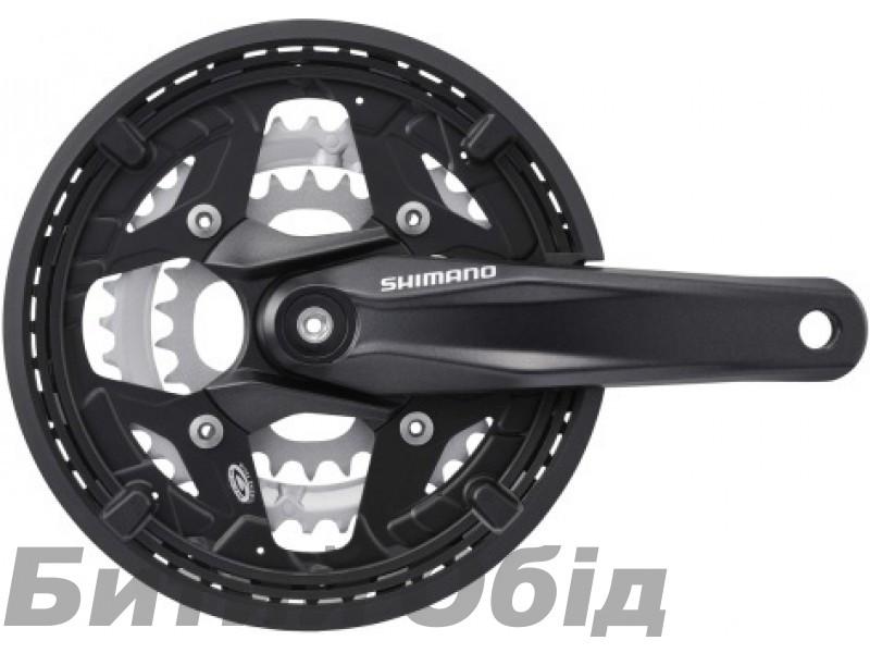 Шатуны Shimano Alivio FC-M430 Octalink, 175мм, 44X32X22, защита, черн