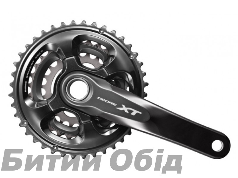 Шатуны Shimano FC-M8000-3, DEORE XT Hollowtech II, 175мм 40X30X22 без компонентов каретки BB-MT800